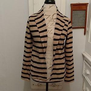 XXI tan and black striped jacket Sz M